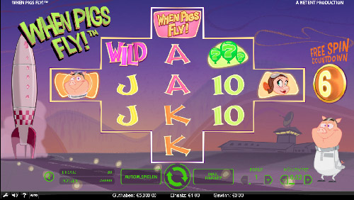 Neue NetEnt Video-Slot: When Pigs Fly