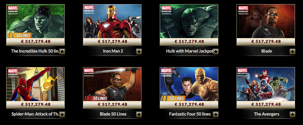 eurogrand casino marvel slots